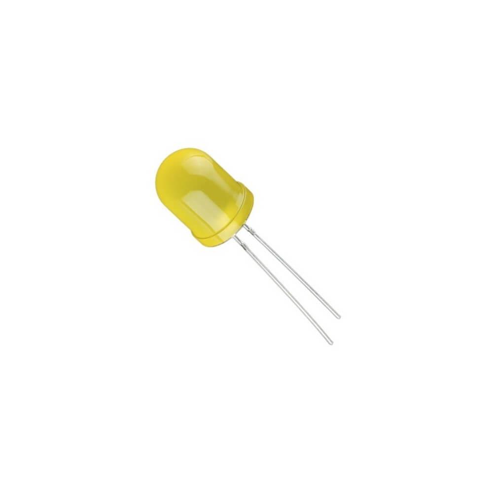 LED Difuso 10mm - Amarelo
