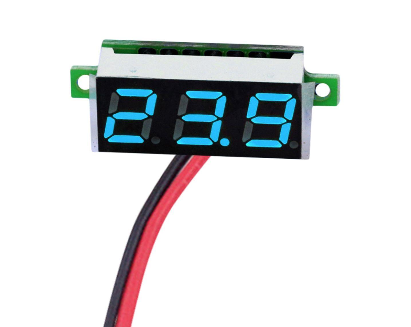 Mini Display Voltímetro 2.5 a 30V - Azul
