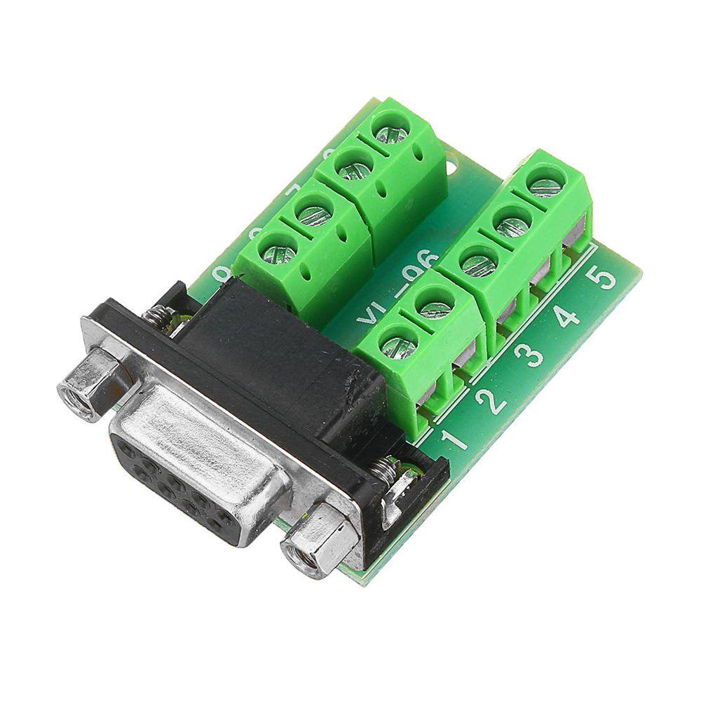 Módulo adaptador conector DB9 serial RS232 fêmea para borne KRE