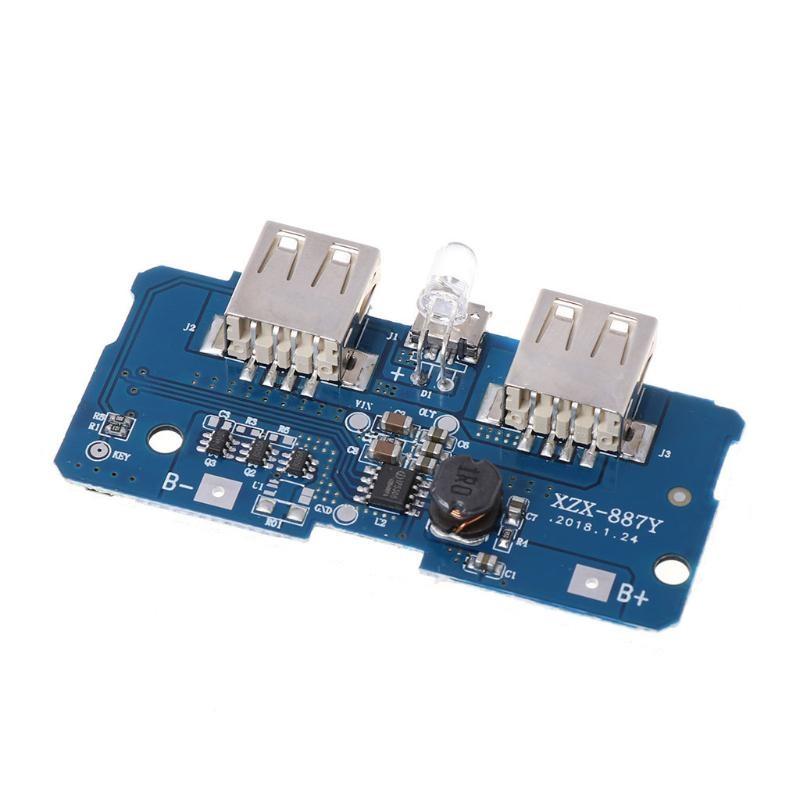 Módulo Carregador Duplo USB 5V 2A para bateria 18650