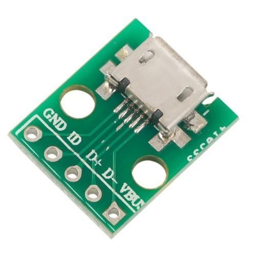 Módulo Conector Micro USB Fêmea para DIP