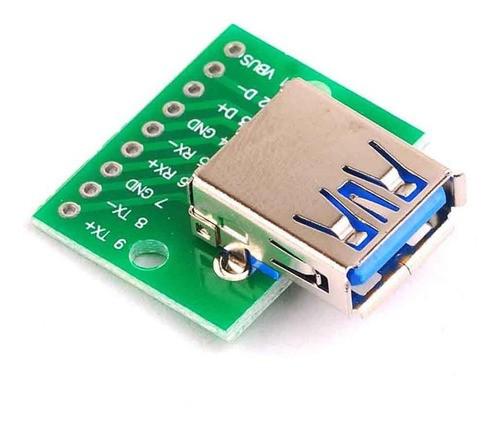 Módulo Conector USB 3.0 para DIP