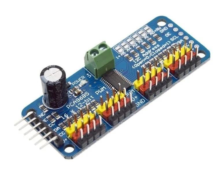 Módulo PCA9685 - Controlador PWM 16 Canais
