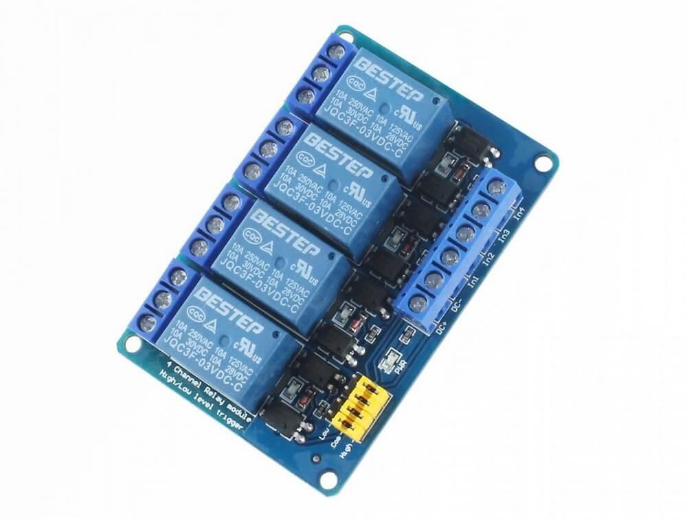 Módulo Relé 3V 4 Canais  - ideal para uso com ESP32