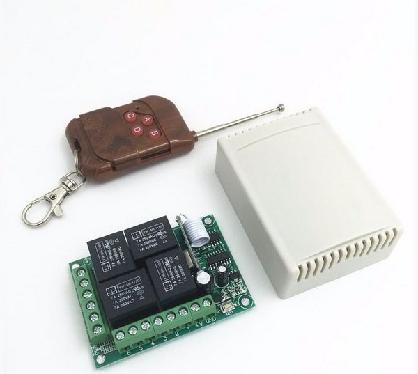 Módulo Relé 433Mhz 4 Canais com Controle