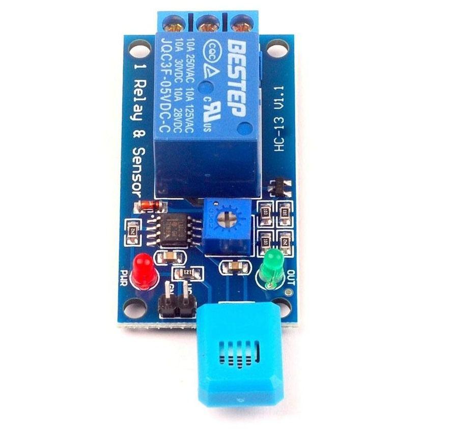 Módulo sensor de Umidade do ar HR202 com relé 5V