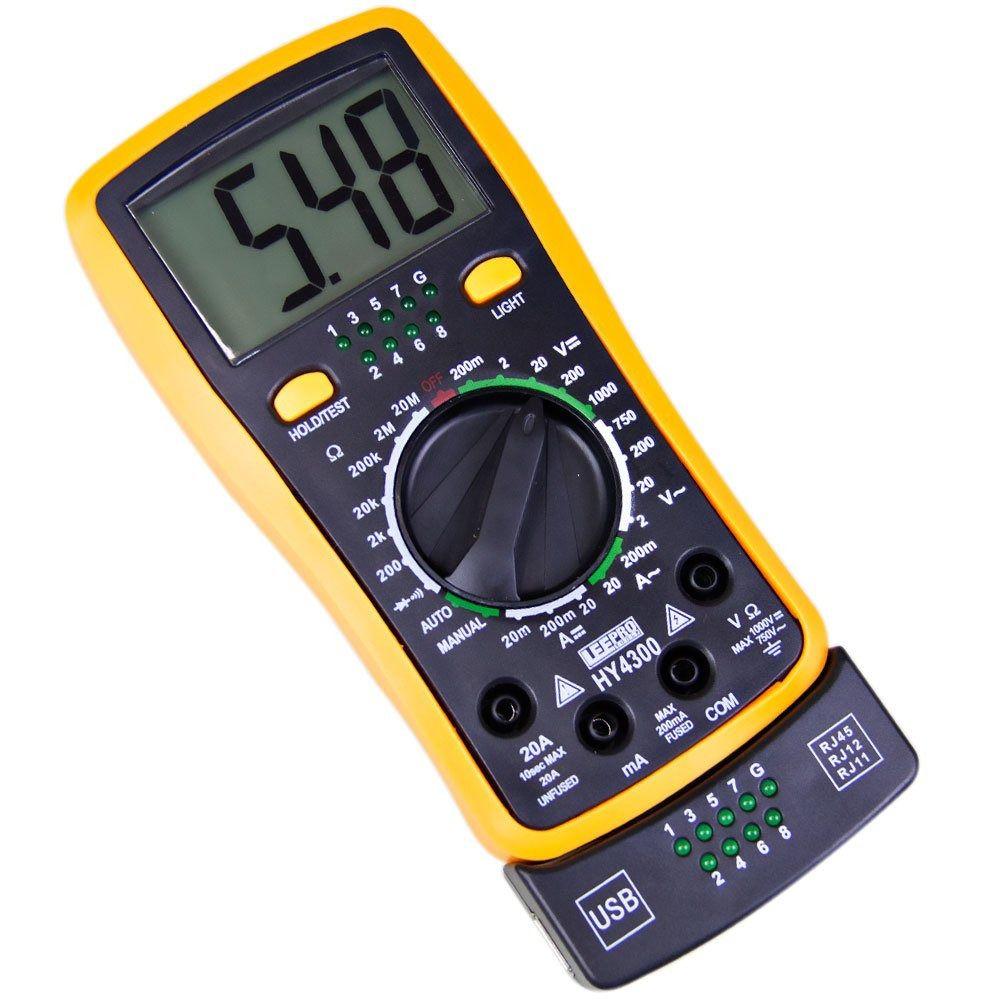 Multímetro Digital HY4300 + Link Test