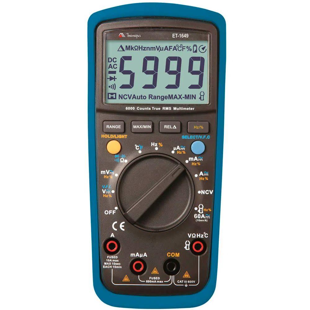Multímetro Digital Minipa ET-1649