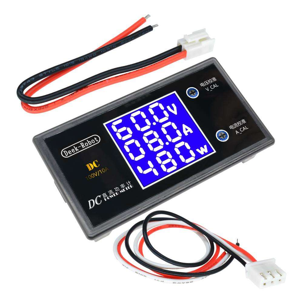 Painel Voltímetro e Amperímetro Com Wattímetro 0 - 100V 10A 1000W