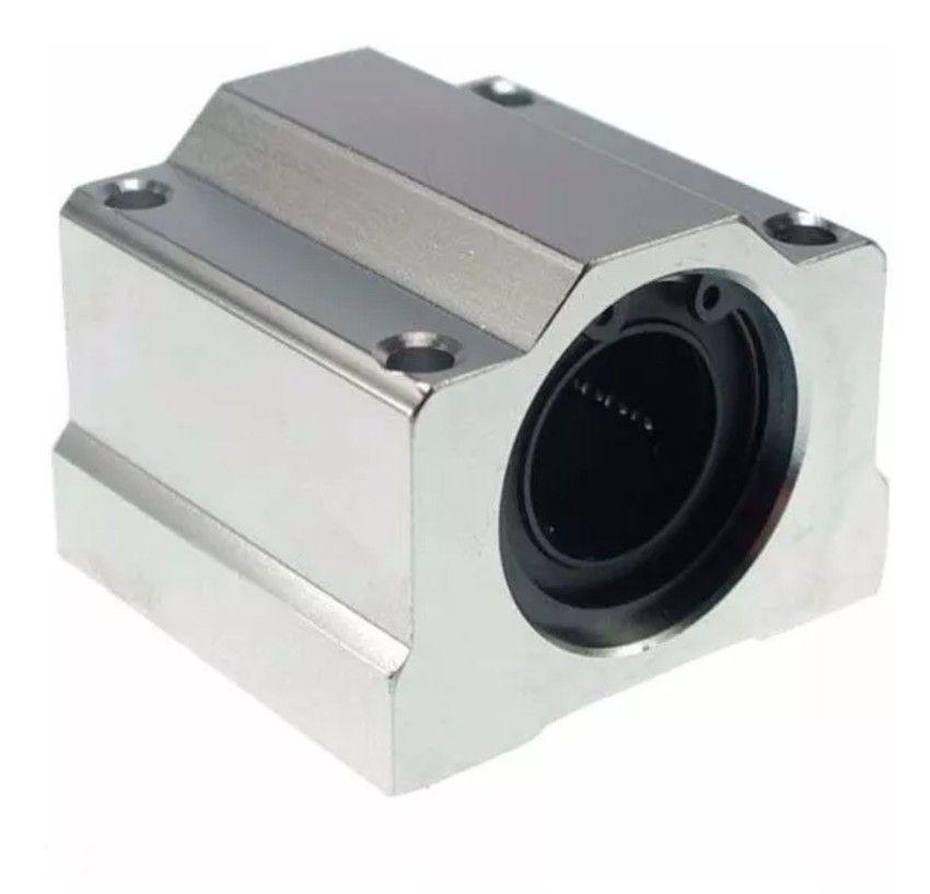 Pillow Block SC16UU com Rolamento para guia Linear 16mm