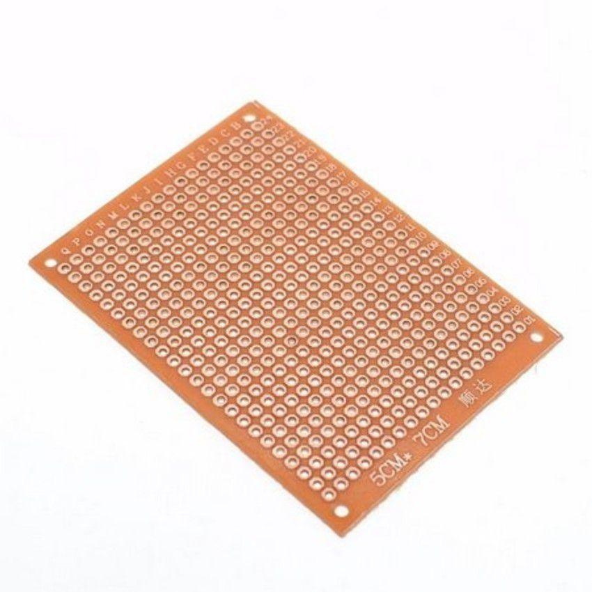 Placa Fenolite Perfurada 5x7cm