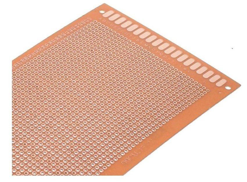 Placa Fenolite Perfurada 9x15cm