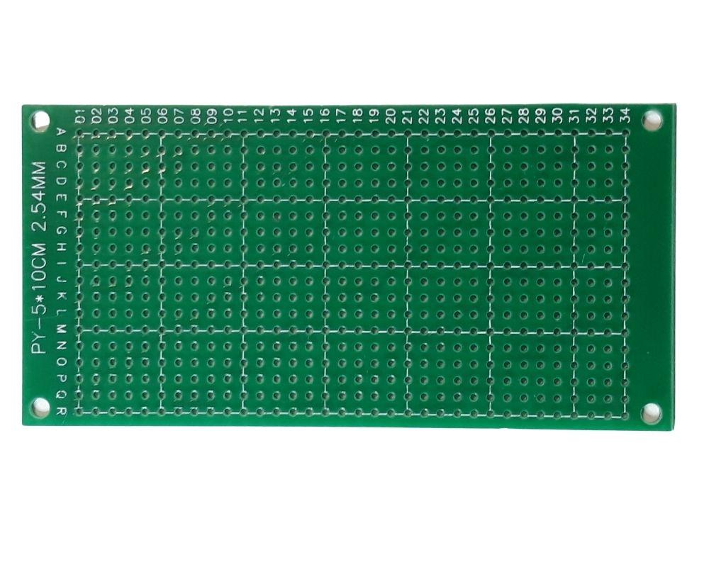 Placa perfurada de fibra de vidro 5x10 cm