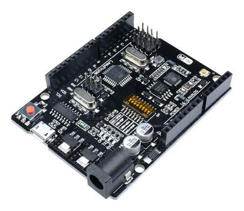 Placa Uno Wi-Fi ATmega328 + ESP8266 + cabo USB (Arduino Compatível)