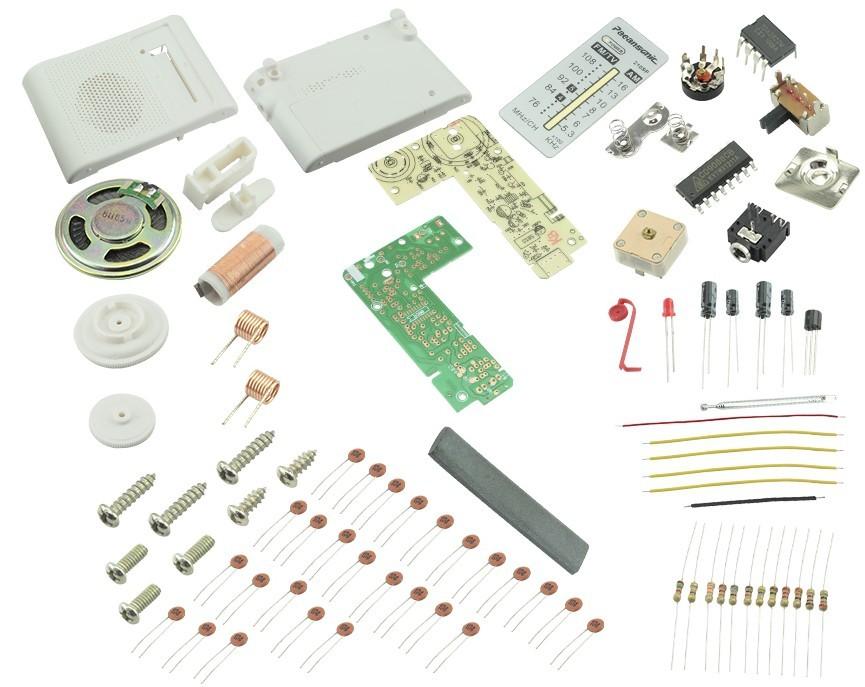 Radio AM/FM portátil - Kit de montagem DIY