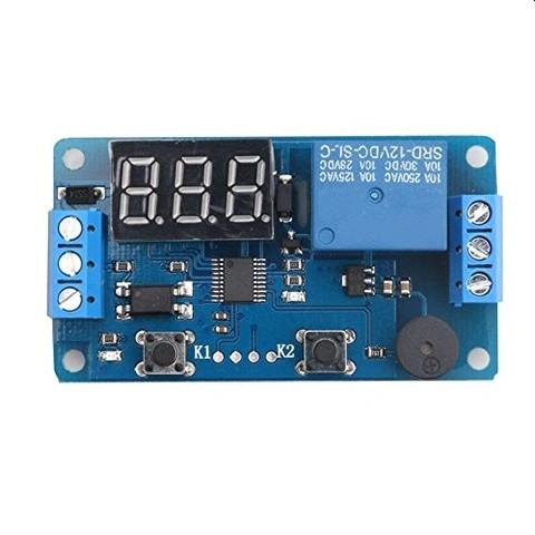 Módulo relé de retardo programável com display 12V