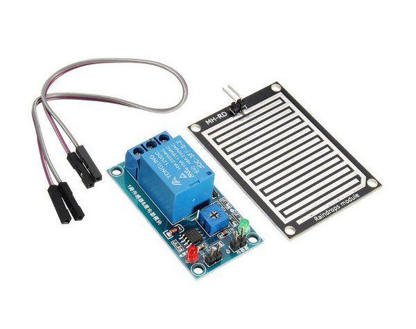 Sensor de chuva e umidade com relé 12V