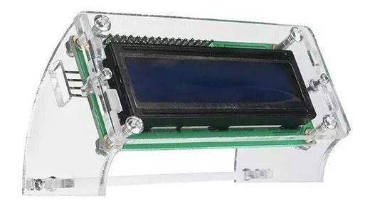 Suporte para display LCD 16X2 em acrílico