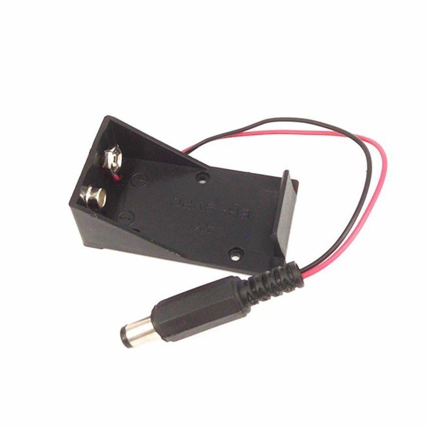 Suporte bateria 9V com plug P4