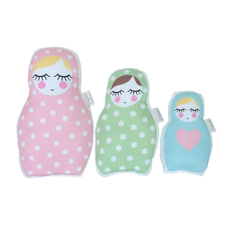 3 Almofadas Bonecas Russas Decora