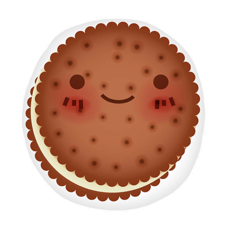 Almofada Biscoitinho de Chocolate Decora