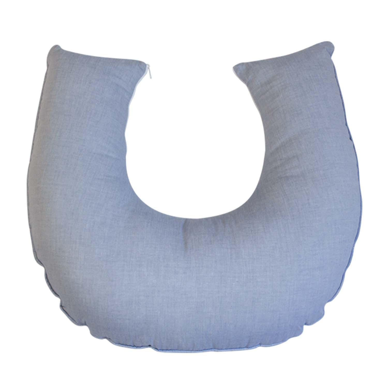 Almofada de Amamentação Chambray Azul