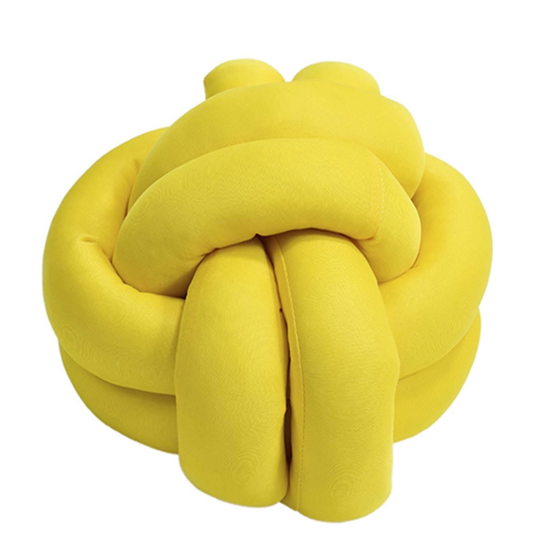 Almofada Decorativa de Nó Amarelo
