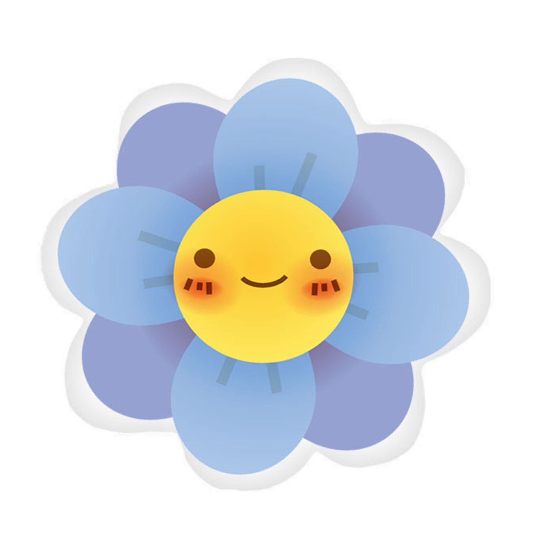 Almofada Flor Sorriso Feliz Decora