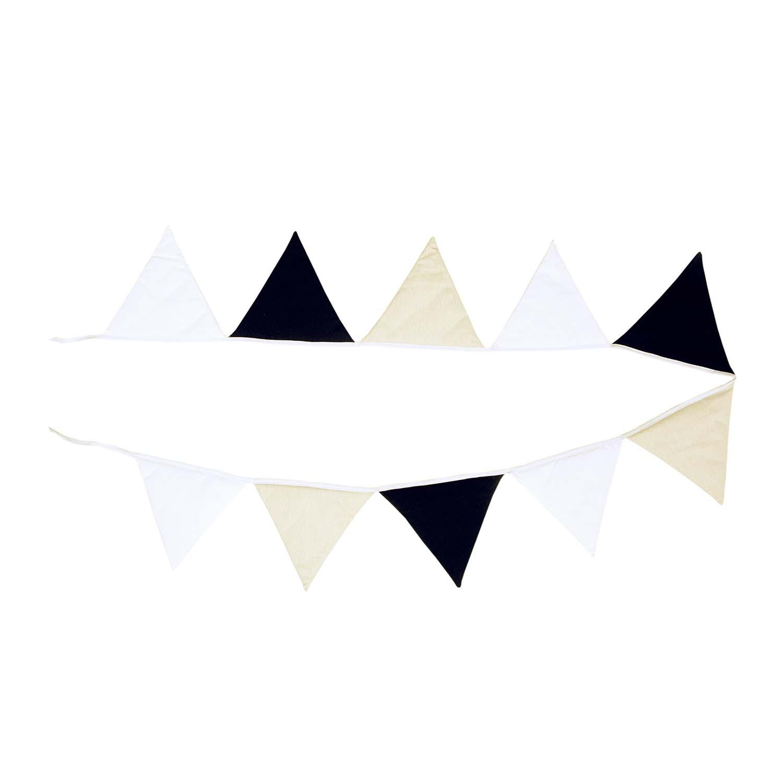 Bandeirinha Decorativa de Tecido Black