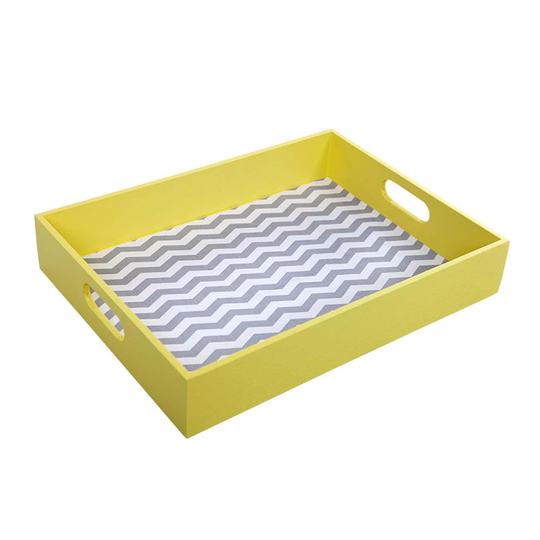 Bandeja Multiuso Zig-Zag Amarela Descolados