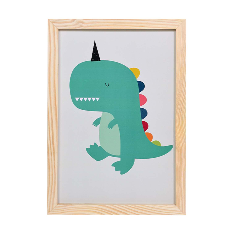 Big Quadro Dinossauro Rainbow Tamanho A3