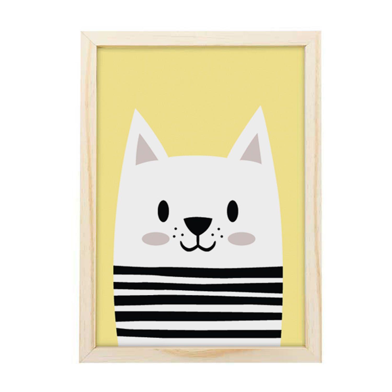 Big Quadro Fun Cat Yellow Tamanho A3