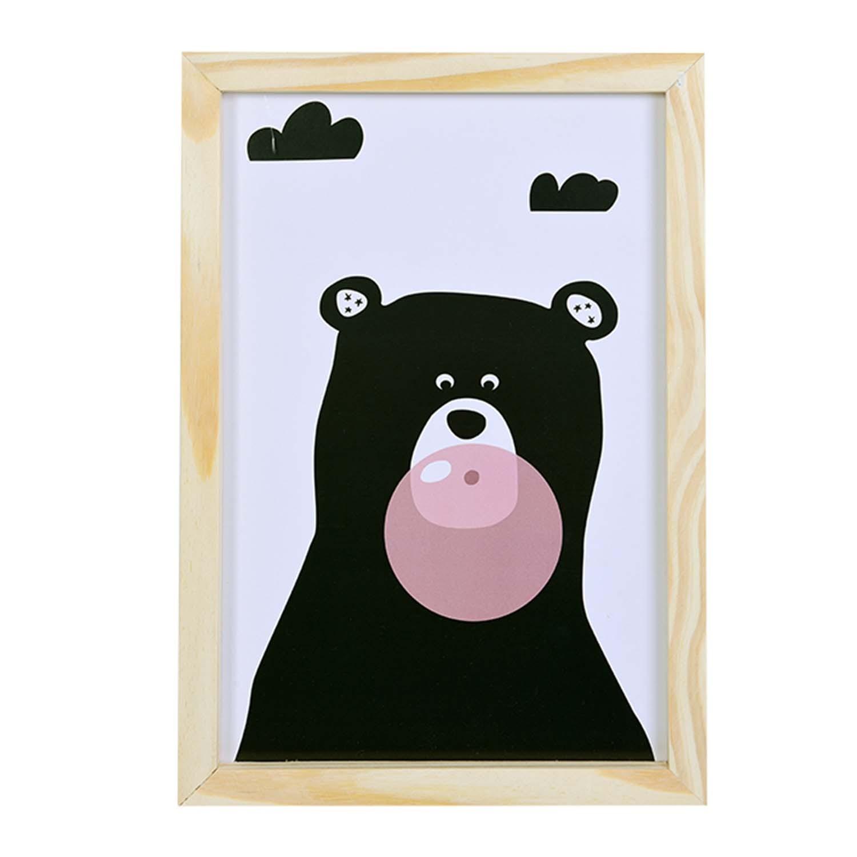 Big Quadro Urso Chiclete Tamanho A3