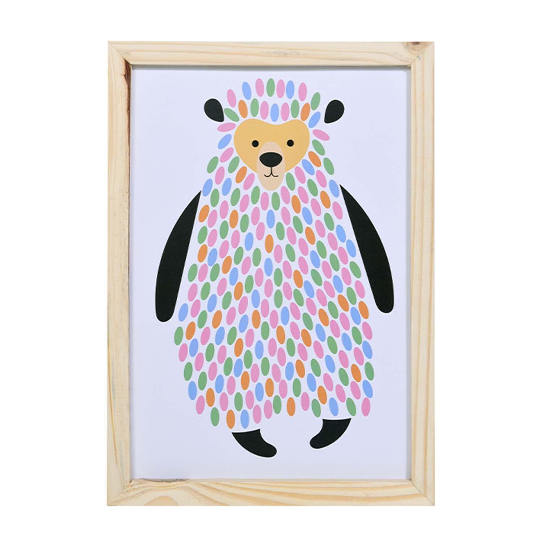 Big Quadro Urso Coloré Tamanho A3