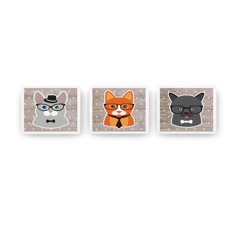Jogo de Quadros Indie Pets 3 Peças