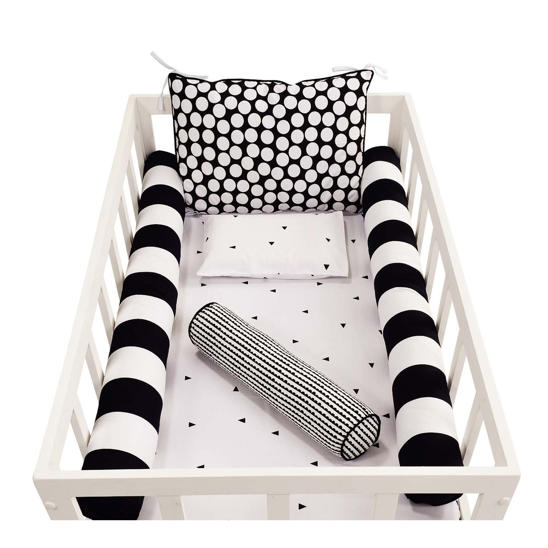Kit de Rolos Protetores de Berço Black and White com 4 peças