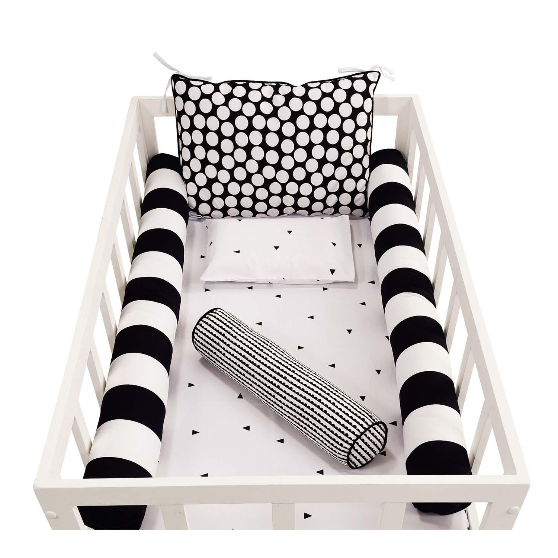 Kit de Rolos Protetores de Berço Black and White Completo