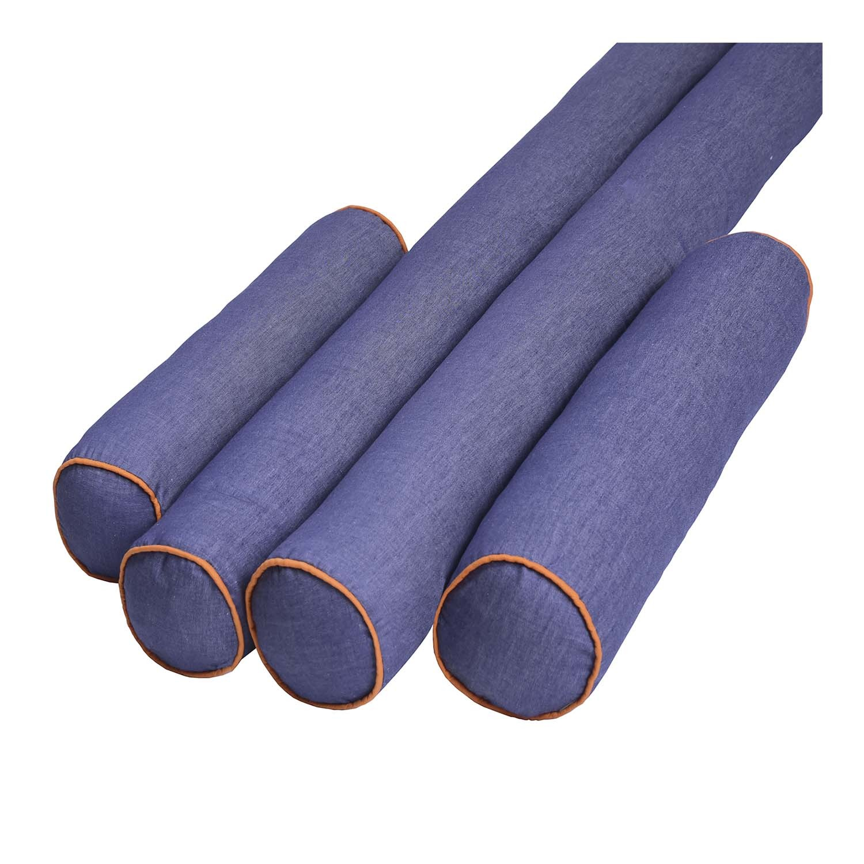 Kit de Rolos Protetores de Berço Jeans Orange Colors com 4 peças