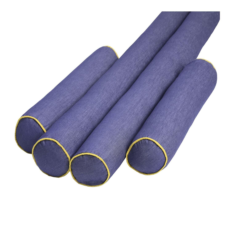 Kit de Rolos Protetores de Berço Jeans Yellow Colors com 4 peças