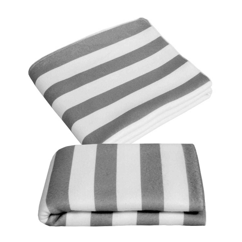 Manta Soft Bold Listras Cinza Super Confort