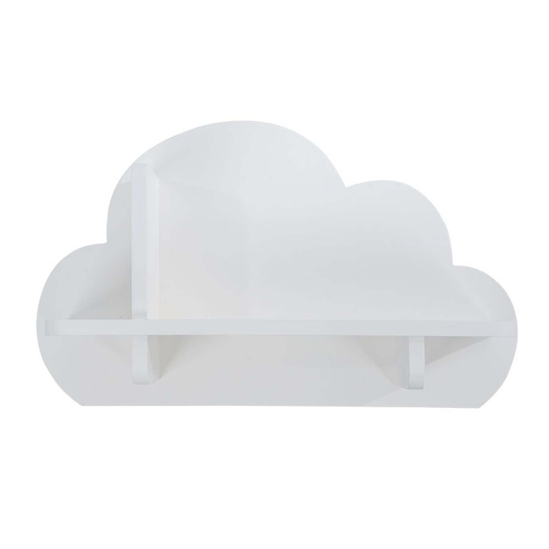 Mini Prateleira MDF Nuvem Decora Branco