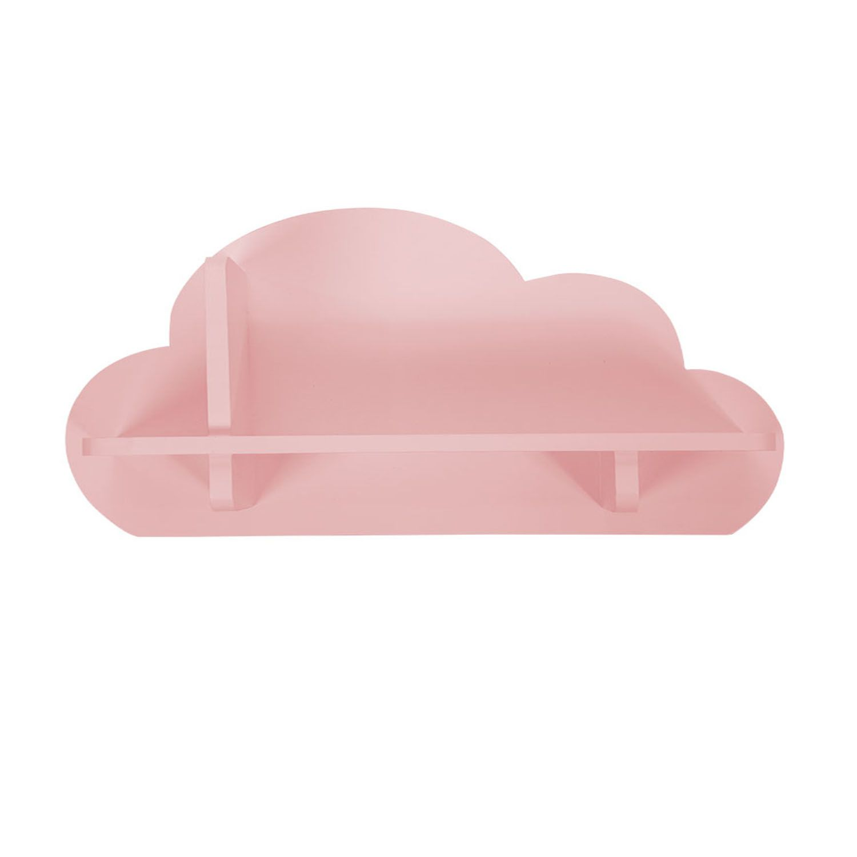 Mini Prateleira MDF Nuvem Decora Rosa
