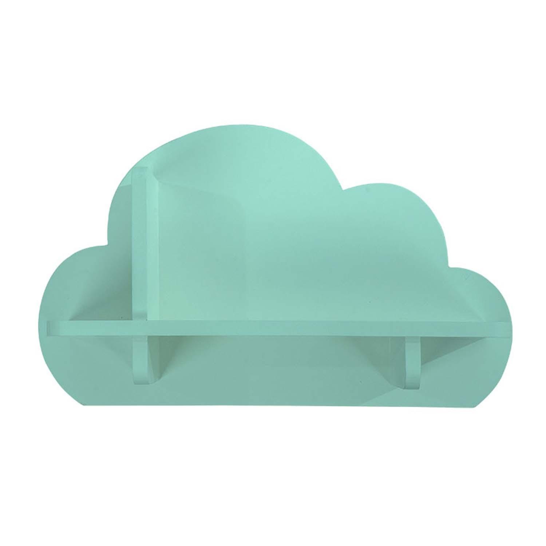 Mini Prateleira MDF Nuvem Decora Verde