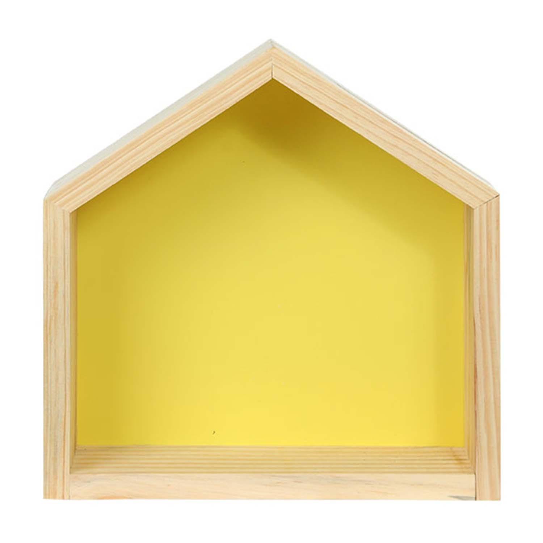 Modern Cubo Nicho Casinha Amarelo