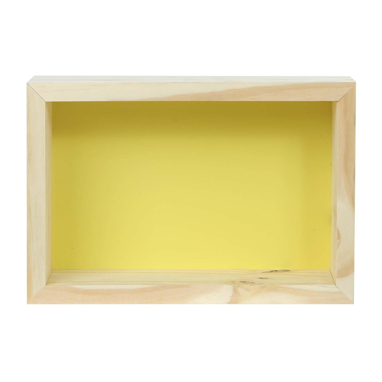 Modern Cubo Nicho Retângulo Amarelo