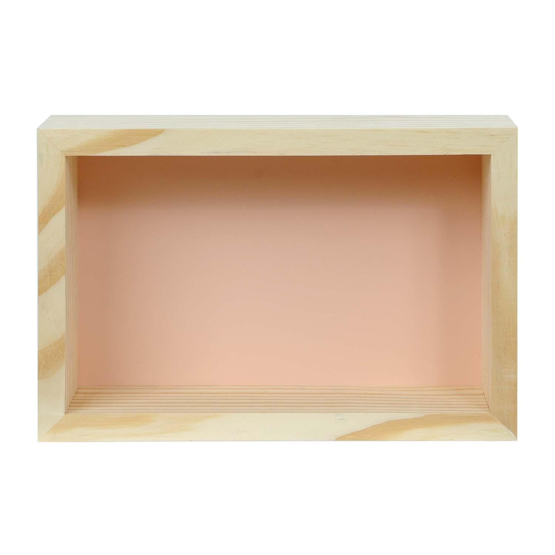 Modern Cubo Nicho Retângulo Rosa