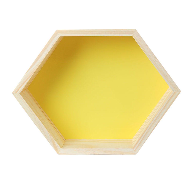 Modern Nicho em formato de Colmeia Amarelo