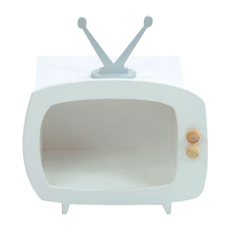 Televisão Branco Mini Nicho Multiuso MDF