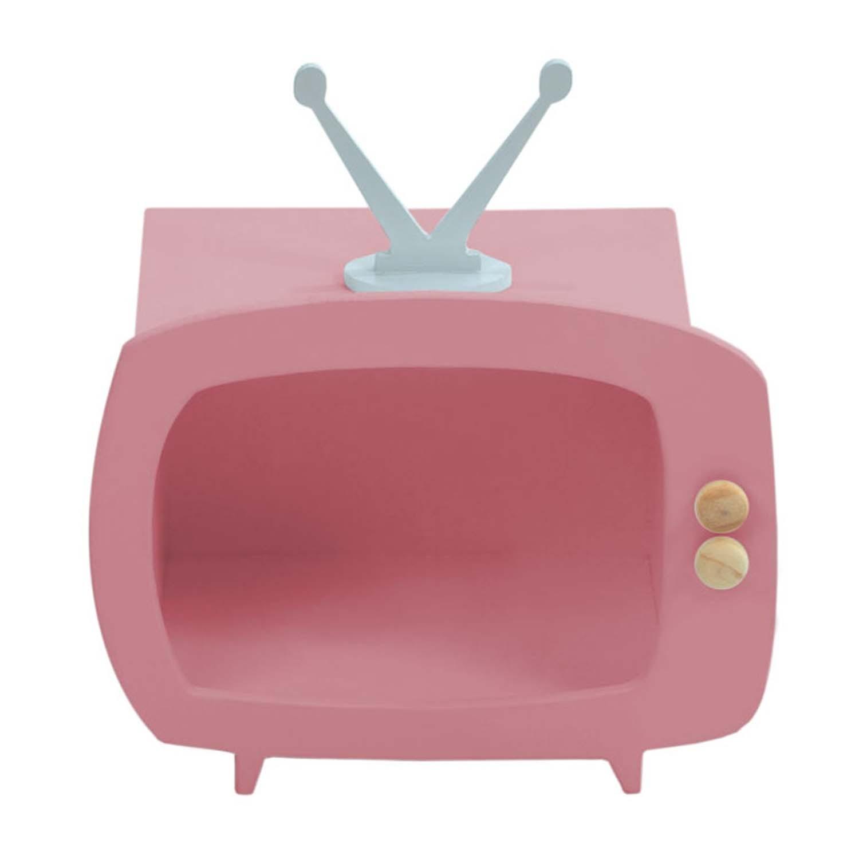 Televisão Rosa Mini Nicho Multiuso MDF