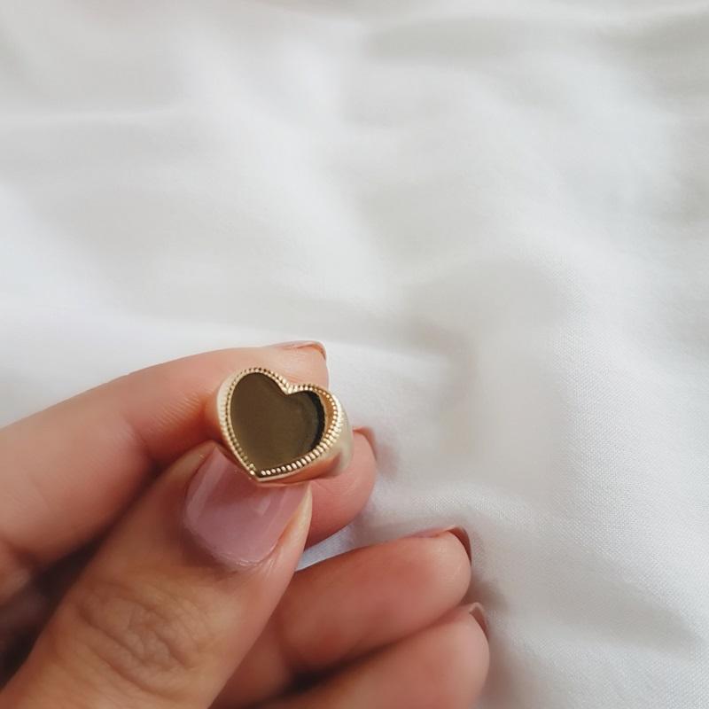 Anel Dedinho de Coração Banhado em Ouro 18k